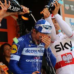 23-03-2019: Wielrennen: Milaan-San Remo: San Remo<br /> - wielrennen - cycling - Milaan-SanRemo -  <br /> Julian Alaphilippe heeft zaterdag de 110e editie van Milaan-San Remo gewonnen. <br /> <br /> <br /> <br /> De 26-jarige Alaphilippe bleef in de sprint Oliver Naesen (tweede) en Michal Kwiatkowski (derde) voor.