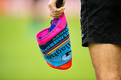 Rainbow colours on the Gallagher Premiership Rugby RFU Match Officials flags prior to kick off  - Mandatory by-line: Ryan Hiscott/JMP - 24/11/2018 - RUGBY - Sandy Park Stadium - Exeter, England - Exeter Chiefs v Gloucester Rugby - Gallagher Premiership Rugby