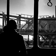 People in the Roosevelt Island Tramway