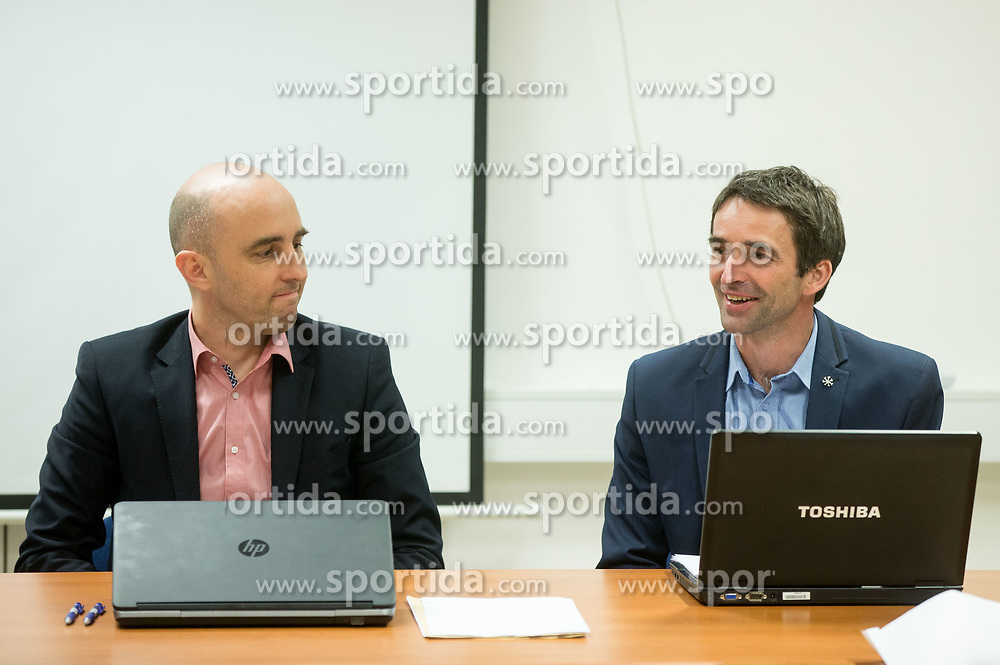 Jozko Krizan and Franci Petek during meeting of Executive Committee of Ski Association of Slovenia (SZS), on March 15, 2017 in SZS, Ljubljana, Slovenia. Photo by Vid Ponikvar / Sportida
