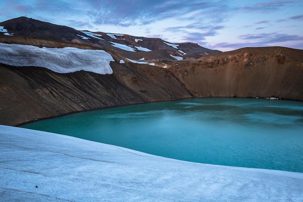 Krafla geothermal lake. Iceland