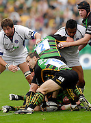 Northampton, GREAT BRITAIN, Saints Mark ROBIBSON looks to distribute the ball during the Northampton Saints vs Bath Rugby, in the Guinness Premiership Rugby match, at  Franklin's Gardens, Northampton, ENGLAND on 16/09/2006 [Photo, Peter Spurrier/Intersport-images].