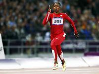 Friidrett , 7. august 2012 , Olympiske leker London , OL , <br /> Athletics , August 7th 2012 , Olympic Games London<br /> 200 m , Carmelita Jeter , USA