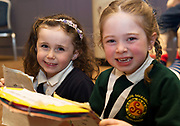 Scriobh Leabhair, Galway Education Centre's booking writing competition for National School pupils At the Radisson Blu saw hundreds of Children awarded for their Writing Skill.<br /> At the event was Siofra Ni Dhorain Scoil Einne and Sophia Ni Thuathail  Sailearna<br />  . Photo:Andrew Downes, xposure