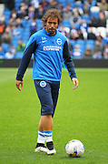 Brighton's Inigo Calderon during the Sky Bet Championship match between Brighton and Hove Albion and Watford at the American Express Community Stadium, Brighton and Hove, England on 25 April 2015. Photo by Phil Duncan.