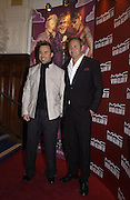 David Furnish and John Dempsey , chairman of Mac cosmetics. M.A.C. Aids fund benefit concert given by Elton John. Shepherds Bush Empire. 16 December 2002.<br />