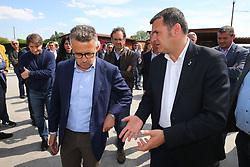 IL MINISTRO CON PAOLO GOVONI<br /> AZIENDA CAVALLERIZZA CONA<br /> VISITA MINISTRO GIAN MARCO CENTINAIO A FERRARA