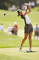 March 27, 2004; Rancho Mirage, CA, USA;  14 year old amateur Michelle Wie tees off on the 18th hole during the 2nd round of the LPGA Kraft Nabisco golf tournament held at Mission Hills Country Club.  Wie finished the day with a 3 under par 69 and tied for 4th with a 6 under par 210.<br />Mandatory Credit: Photo by Darrell Miho <br />&copy; Copyright Darrell Miho