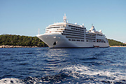 Silver Spirit Passenger's cruise ship. Photographed in the Adriatic Sea, Dubrovnik, Croatia