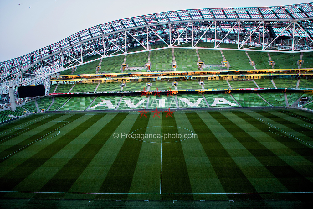 DUBLIN, REPUBLIC OF IRELAND - Thursday, March 23, 2017: A general view inside the Aviva Stadium (Lansdowne Road) ahead of the 2018 FIFA World Cup Qualifying Group D match against Republic of Ireland. (Pic by Paul Greenwood/Propaganda)