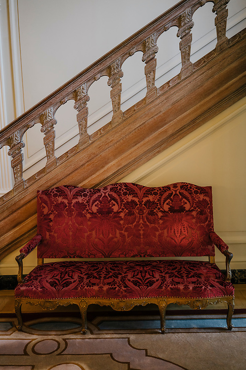Couch in the entrance to the French Ambassador's residence in the Kalorama neighborhood of Washington D.C. France acquired the residence in 1936.