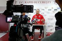 BOEKAREST - 19-08-15, Europa League, Astra GiurGiu - AZ, Persconferentie, AZ trainer John van den Brom.