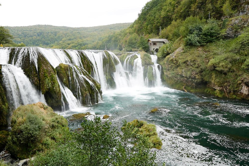 Strbacki Buk waterfall on river Una, National Park, Bosnia and Herzegovina.