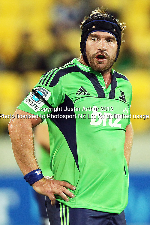 Highlanders' Andrew Hore during the 2012 Super Rugby season, Hurricanes v Highlanders at Westpac Stadium, Wellington, New Zealand on Saturday 17 March 2012. Photo: Justin Arthur / Photosport.co.nz