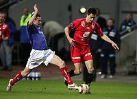 Fotball, 17. april 2005, Tippeligaen, Vålerenga - Brann 2-1, Thomas Holm, Vålerenga og Paul Scharner, Brann