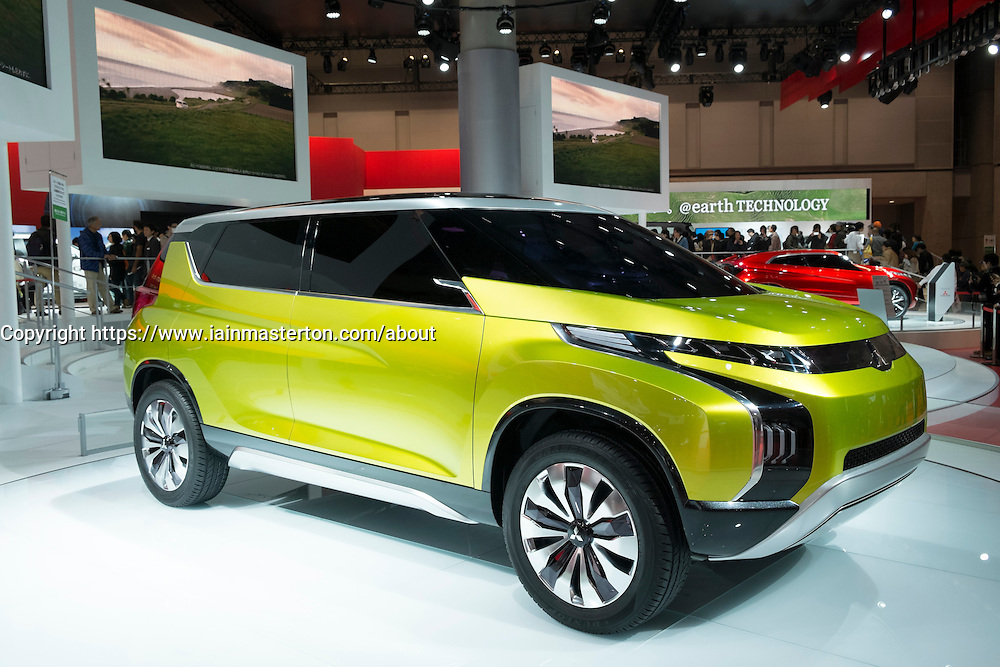 Mitsubishi AR concept hybrid electric car at Tokyo Motor Show 2013 in Japan