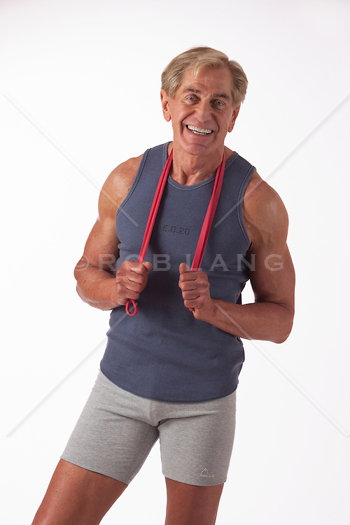 mature athletic man in workout clothing