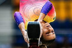 October 28, 2018 - Doha, Quatar - Jade Barbosa of Brazil   during  Balancing Beam qualification at the Aspire Dome in Doha, Qatar, Artistic FIG Gymnastics World Championships on 28 of October 2018. (Credit Image: © Ulrik Pedersen/NurPhoto via ZUMA Press)