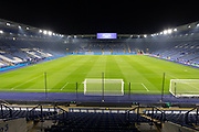 General view of the ground before the Premier League match between Leicester City and Watford at the King Power Stadium, Leicester, England on 4 December 2019.