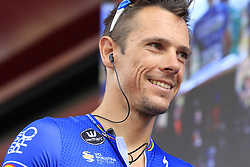 Philippe Gilbert (BEL) Deceuninck-Quick Step at sign on before the start of Stage 4 of La Vuelta 2019 running 175.5km from Cullera to El Puig, Spain. 27th August 2019.<br /> Picture: Eoin Clarke | Cyclefile<br /> <br /> All photos usage must carry mandatory copyright credit (© Cyclefile | Eoin Clarke)