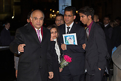 © licensed to London News Pictures. London, UK 10/12/2012. Family of Nurse Jacintha Saldanha meeting Labour MP Keith Vaz outside the Houses of Parliament on 10/12/12. Photo credit: Tolga Akmen/LNP