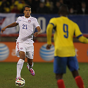 Timothy Chandler, USA, during the USA Vs Ecuador International match at Rentschler Field, Hartford, Connecticut. USA. 10th October 2014. Photo Tim Clayton