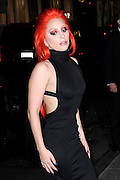 Feb. 17, 2016 - New York, NY, USA - <br /> <br /> Lady Gaga arriving to attend the Carine Roitfeld V Magazine Party at the Rainbow Room in New York City <br /> ©Exclusivepix Media