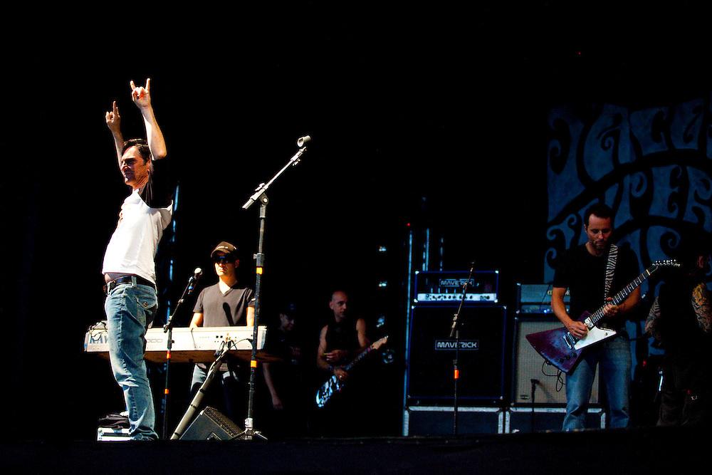 Belo Horizonte_MG, Brasil..Apresentacao da Banda Titas. Na foto Paulo Miklos, Sergio Britto e Tony Bellotto...The Titas rock band. In this photo Paulo Miklos, Sergio Britto and Tony Bellotto...Foto: LEO DRUMOND / NITRO