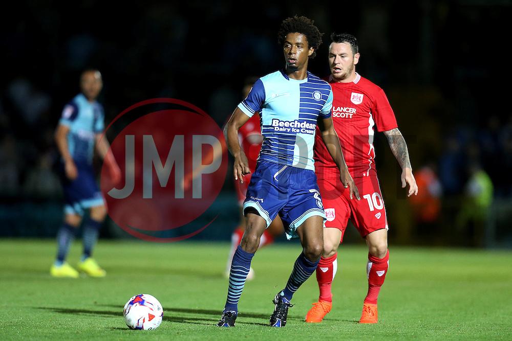 Sido Jombati of Wycombe Wanderers passes the ball - Mandatory by-line: Robbie Stephenson/JMP - 09/08/2016 - FOOTBALL - Adams Park - High Wycombe, England - Wycombe Wanderers v Bristol City - EFL League Cup