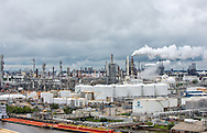 View of Valero Houston Refinery in Manchester from the 610 overpass in Houston, Texas.