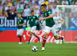 MOSCOW, RUSSIA - Sunday, June 17, 2018: Mexico's Raul Jimenez during the FIFA World Cup Russia 2018 Group F match between Germany and Mexico at the Luzhniki Stadium. (Pic by David Rawcliffe/Propaganda)