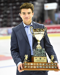 Nick Suzuki of the Owen Sound Attack won the BRP Sportsman of the Year Award. Photo by Aaron Bell/CHL Images