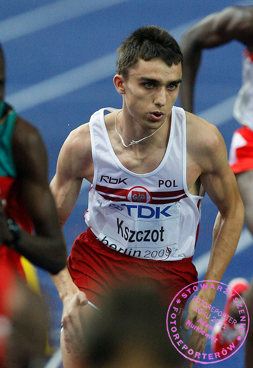 BERLIN 21/08/2009.12th IAAF World Championships in Athletics Berlin 2009.800 Metres Men - Semifinal .Adam Kszczot of Poland ..Phot: Piotr Hawalej / WROFOTO