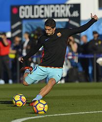 November 18, 2017 - Leganes, Madrid, Spain - Luis Suarez during the match between CD Leganes vs. FC Barcelona, week 12 of La Liga at Butarque stadium, Leganes, Madrid, Spain on 18th November of 2017. (Credit Image: © Jose Breton/NurPhoto via ZUMA Press)