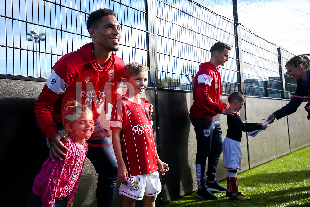 Zak Vyner meets fans as Bristol City players visit the BCCT October Holiday Camp - Rogan/JMP - 25/10/2017 - FOOTBALL - South Bristol Sports Centre - Bristol, England.