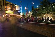 Grove, Shopping Center, Mall,  Fairfax District, Los Angeles, CA, Retail, Stores, Neon Lights, Twilight, Blue Light, Magic Hour,