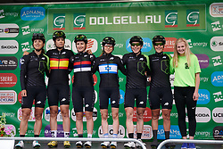 Cylance Pro Cycling sign on at OVO Energy Women's Tour 2018 - Stage 5, a 122 km road race from Dolgellau to Colwyn Bay, United Kingdom on June 17, 2018. Photo by Sean Robinson/velofocus.com