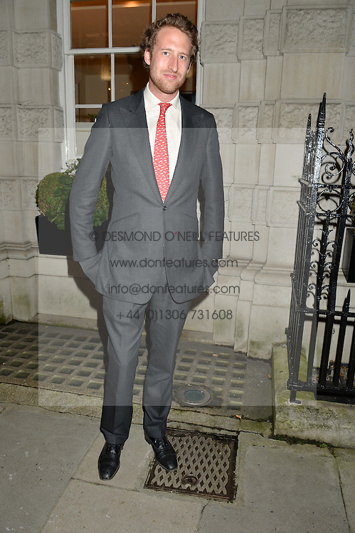 The HON.FREDDIE HESKETH at a party to celebrate the publication of Capability Brown & Belvoir - Discovering a lost Landscape by The Duchess of Rutland, held at Christie's, 8 King Street, St.James, London on 7th October 2015.