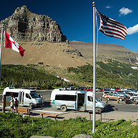 glacier national park, logan pass visitor center parking lot