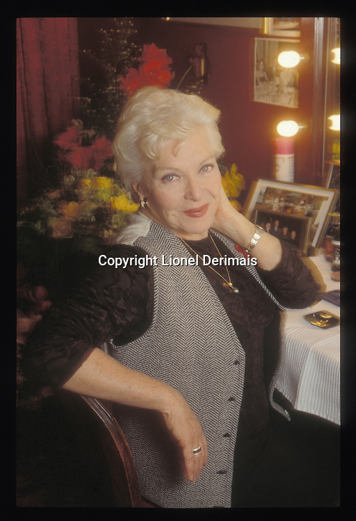 Line Renaud, French singer / actress photographed in Paris. Circa 1990.