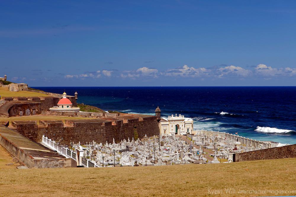 USA, Puerto Rico, San Juan. A seaside cemetary.