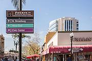Intersection at 4th and Sycamore Downtown Santa Ana