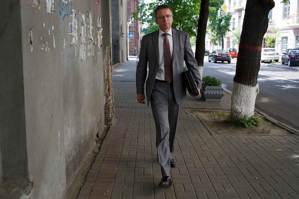 Ivan Mikloš walks to a meeting near his office on May 25, 2015 in Kyiv, Ukraine. Mr. Mikloš is Chief Advisor to the Minister of Finance of Ukraine and Advisor to the Minister of Economic Development and Trade of Ukraine.