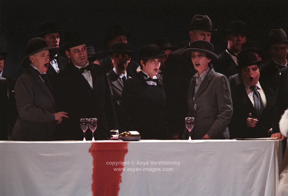 "Royal Opera in Donizetti's ""Lucia di Lammermoor""<br /> <br /> <br /> <br /> Director: Christof Loy<br /> Designs: Herbert Murauer<br /> Lighting: Rheinhard Traub"