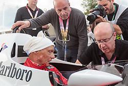 20.06.2015, Red Bull Ring, Spielberg, AUT, FIA, Formel 1, Grosser Preis von Österreich, Legenden Rennen, im Bild Niki Lauda (AUT) // during the Legend Race of the Austrian Formula One Grand Prix at the Red Bull Ring in Spielberg, Austria, 2015/06/20, EXPA Pictures © 2015, PhotoCredit: EXPA/ JFK