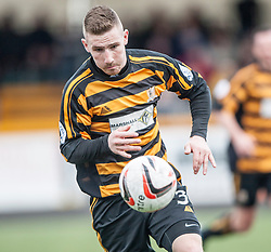 Alloa Athletic's Daryll Meggatt.<br /> Alloa Athletic 3 v 0 Falkirk, Scottish Championship game played today at Alloa Athletic's home ground, Recreation Park.<br /> &copy; Michael Schofield.