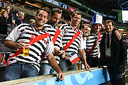 French fans before the Rugby World Cup 2015 Pool D match (22) between France and Canada at Stadium MK, Milton Keynes, England on 1 October 2015. Photo by David Charbit.