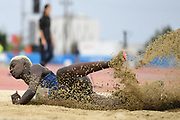 Rougui Sow (FRA) competes on Women's Long Jump final during the Jeux Mediterraneens 2018, in Tarragona, Spain, Day 6, on June 27, 2018 - Photo Stephane Kempinaire / KMSP / ProSportsImages / DPPI