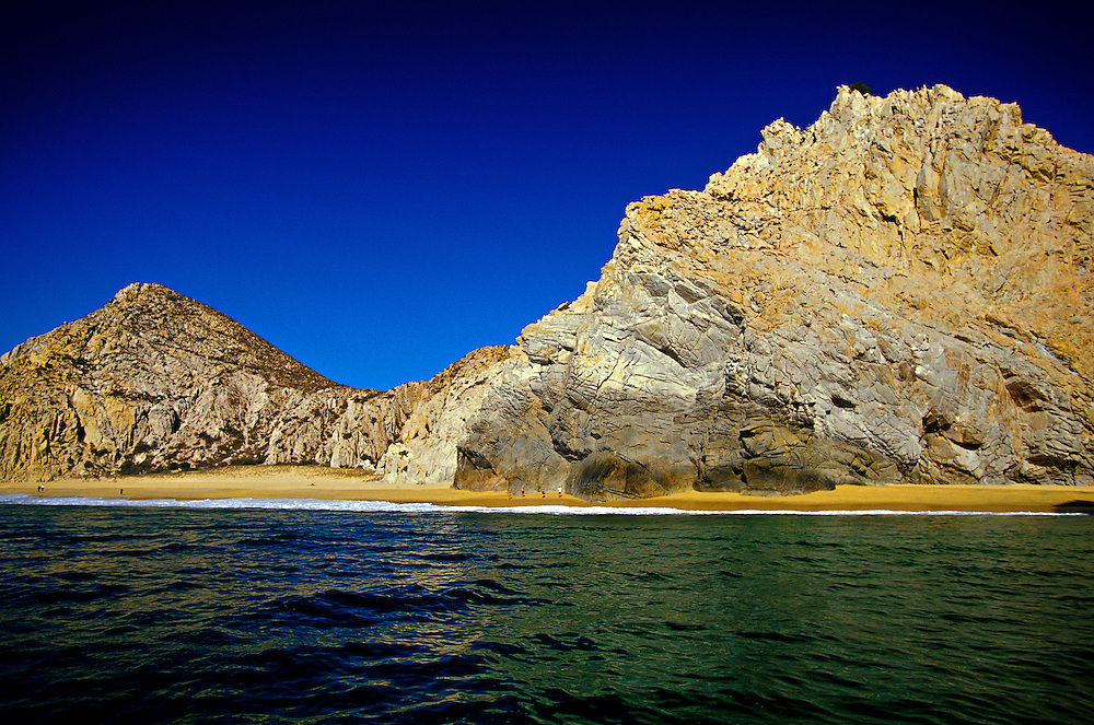 Lands' End at the confluence of the Sea of Cortes and Pacific Ocean, Cabo San Lucas, Los Cabos, Baja California, Mexico