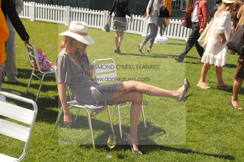 OLIVIA INGE at the final of the Veuve Clicquot Gold Cup 2007 at Cowdray Park, West Sussex on 22nd July 2007.<br />